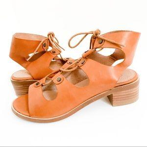 Seychelles Love Affair Lace-Up Leather Sandal Sz 8